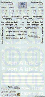 Schweizer Post Beschriftungen 1:87