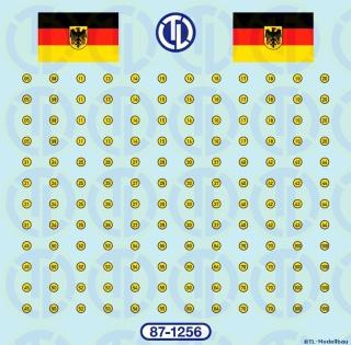 MLC-Schilder in Gelb/Schwarz 1:87