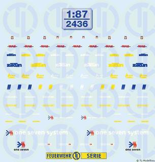 Firmenschilder für Einsatzfahrzeuge 1:87