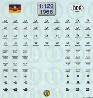 DDR Straßenfahrzeug Beschriftungen 1:120