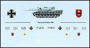 Decalbogen »Panzerbataillon 294« 1:87