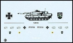 Decalbogen »Panzerbataillon 84« 1:87