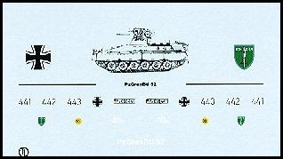 Decalbogen »PzGrenadierBtl. 52« 1:87