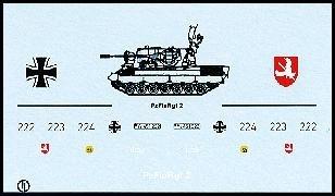 Decalbogen »Pz.-Flugabwehr Regiment 2« 1:87