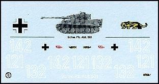 Decalbogen »Schwere Panzerabteilung 501« 1:87