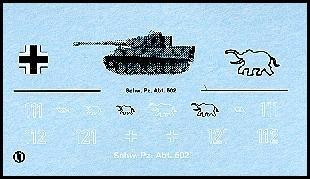 Decalbogen »Schwere Panzerabteilung 502« 1:87