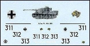 Decalbogen »Schwere Panzerabteilung 503« 1:87