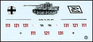 Decalbogen »Schwere Panzerabteilung 504« 1:87