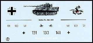 Decalbogen »Schwere Panzerabteilung 505« 1:87