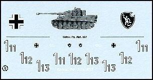 Decalbogen »Schwere Panzerabteilung 507« 1:87