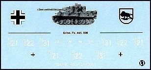 Decalbogen »Schwere Panzerabteilung 508« 1:87