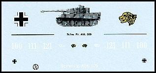Decalbogen »Schwere Panzerabteilung 509« 1:87