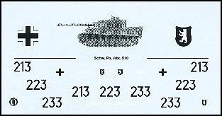 Decalbogen »Schwere Panzerabteilung 510« 1:87