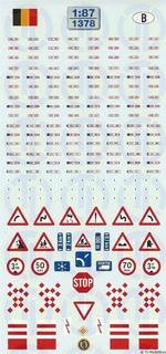 Euro Kfz-Kennzeichen »Belgien« 1:87