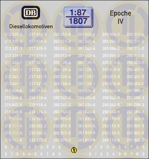 Loknummern für Diesellokomotiven, Epoche IV 1:87