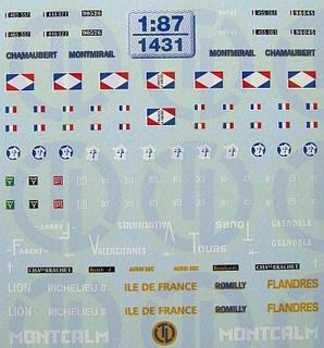WK II - Panzerbeschriftungen der franz. Armee 1:87
