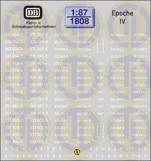 Loknummern für Klein- u. Schmalspur, Epoche IV 1:87