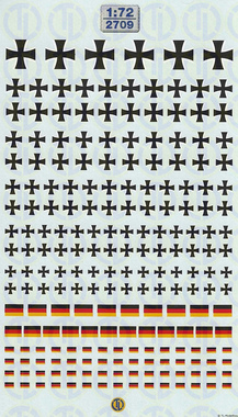 Decals Wehrmacht »Heer« Balkenkreuzvarianten 1:72 2815