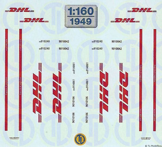 DHL-Beschriftungen 1:160