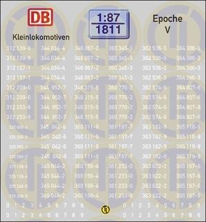 Loknummern für Kleinlokomotiven, Epoche V 1:87
