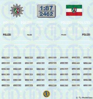 Polizei Decalbogen »NRW« 1:87