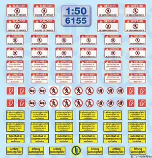 Hinweis-Schilder für Baumaschinen 1:50