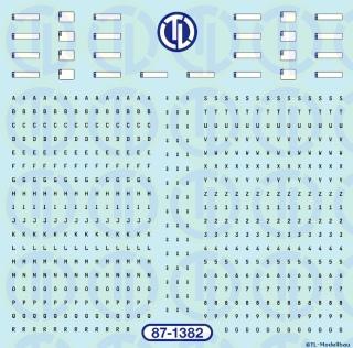 Euro Kfz-Kennzeichen- Schwarz 1:87
