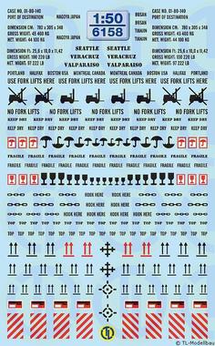 Decals Herstellerschriftzüge für Ladekräne 1:50 6159
