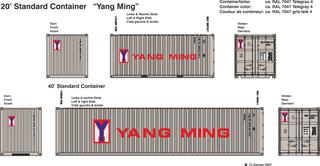 Yang Ming Beschriftungen 1:87