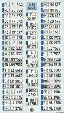 6902 Decals Euro-Kfz-Kennzeichen »Deutschland« zum Selbstbeschriften 1:18