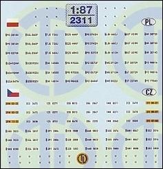 Kfz-Kennzeichen »Polen und Tschechien« 1:87