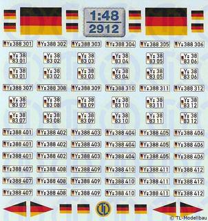 Bundeswehr - Y Kfz-Kennzeichen 1:48