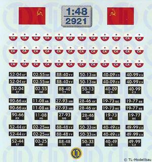 UdSSR - CA-Embleme und Kfz-Kennzeichen 1:48