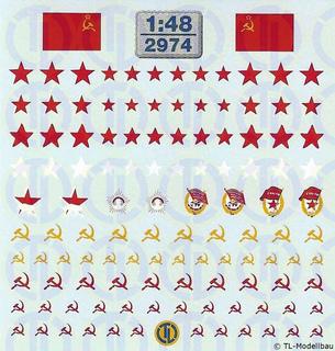 UdSSR - Rote Sterne und diverse Zeichen 1:48