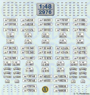Kfz-Kennzeichen »Schutzstaffel« 1:48
