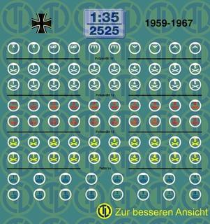 Taktische Zeichen 1959-1969 - 1:35
