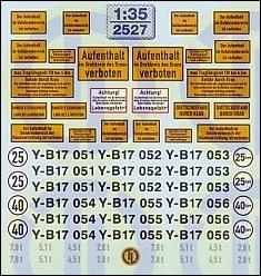 Hinweis- u. Warntafeln für Pionier-Fahrzeuge 1:35