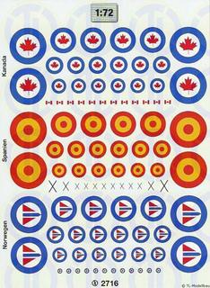 Hoheitsabzeichen »Kanada, Spanien, Norwegen«...
