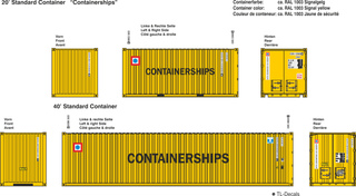 Containerships Beschriftungen 1:87