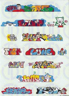 Graffiti Decalbogen 1:160