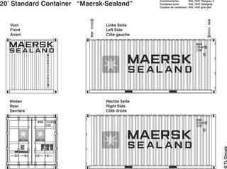 Maersk/Sealand Beschriftungen 1:87