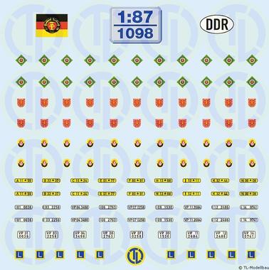 Diverse DDR-Organe 1:87