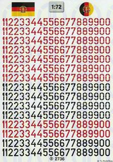 Taktische Nummern der NVA-LSK 1:72