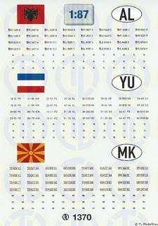 Kfz-Kennzeichen »Albanien · Jugoslawien...