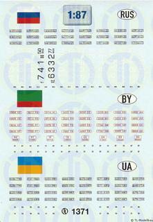 Kfz-Kennzeichen »Russland · Weissrussland...