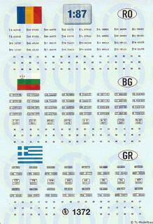 Kfz-Kennzeichen »Rumänien · Bulgarien...