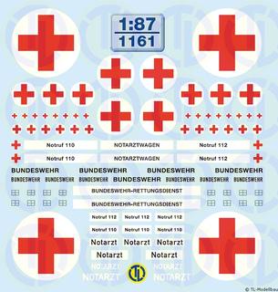 BW - Krankentransport Beschriftungen 1:87