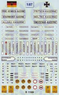Bundeswehr »Kasernen- und Umfeldschilder« 1:87