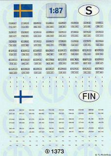 Kfz-Kennzeichen »Finnland · Schweden«...
