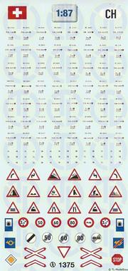 Kfz-Kennzeichen »Schweiz« 1:87
